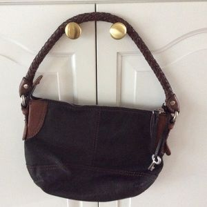 Fossil Black leather purse shoulder bag